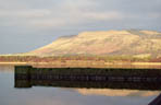 Bishops Hill from across Loch Leven, frosty Hogmanay morning